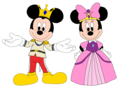 Prince Mickey and Princess Minnie - Minnie-rella - mickey-and-minnie fan art