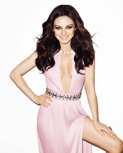 Mila Kunis achtergrond probably with a cocktail dress, a avondeten, diner dress, and a strapless entitled Mila Kunis for Harpers Bazaar