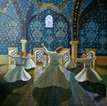 Whirling Dervishes - modern-art photo