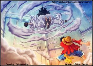 *Luffy v/s Caesar*