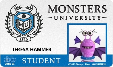 Monster's università wallpaper entitled Teresa Hammer