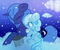 Snow Flake and Luna