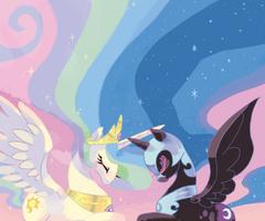 Celestia and Nightmare Moon