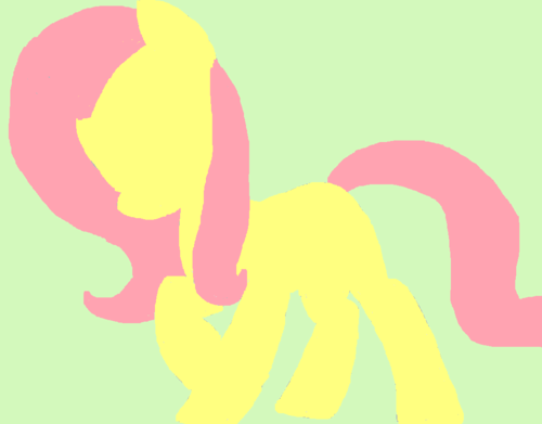 My Little kuda, kuda kecil Friendship is Magic kertas dinding entitled Fluttershy I Drew on Paint