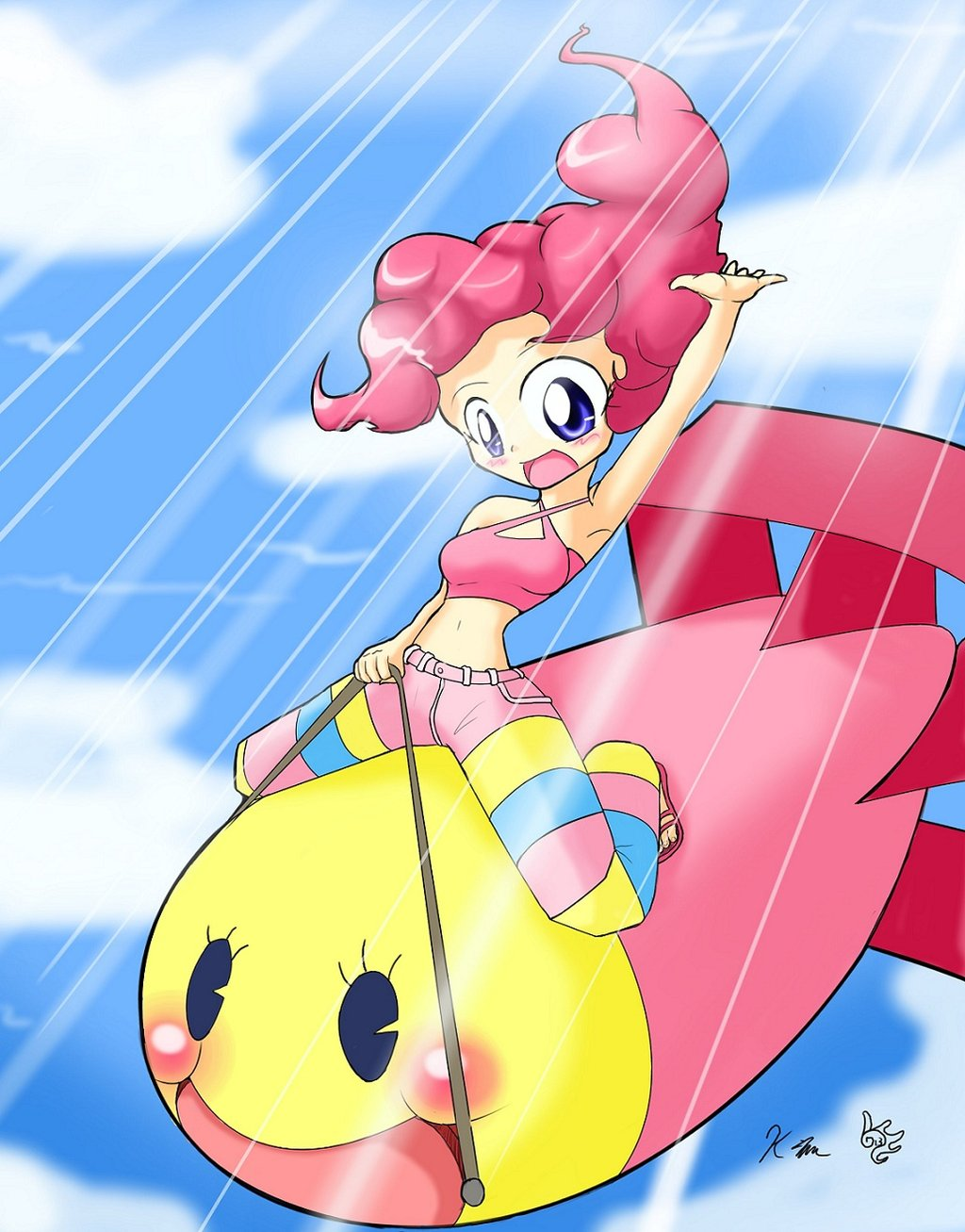 Pinkie Pie Riding a Float