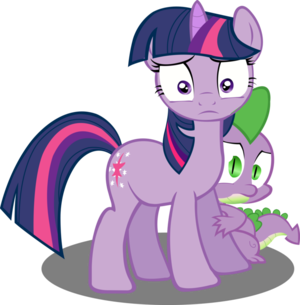 Twilight Sparkle and Spike