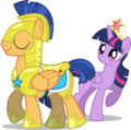 Flash Sentry and Twlight Sparkle