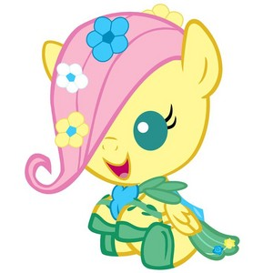Fluttershy as a Baby in Her Gala Dress