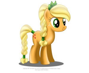 applejack as a Crystal pony