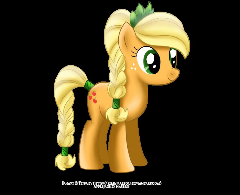 Applejack as a Crystal Pony