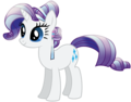 Rarity as a Crystal пони