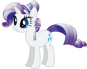 Rarity as a Crystal pony