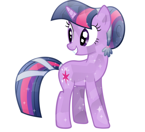 My Little pony Friendship is Magic achtergrond called Twilight Sparkle as a Crystal pony
