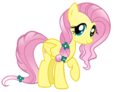 Fluttershy as a Crystal poney