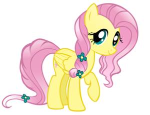 Fluttershy as a Crystal pony