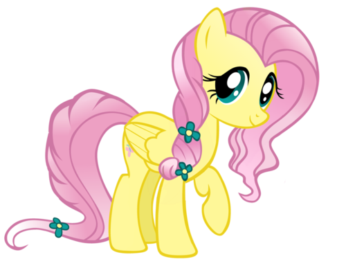my little pónei, pônei - a amizade é mágica wallpaper entitled Fluttershy as a Crystal pónei, pônei