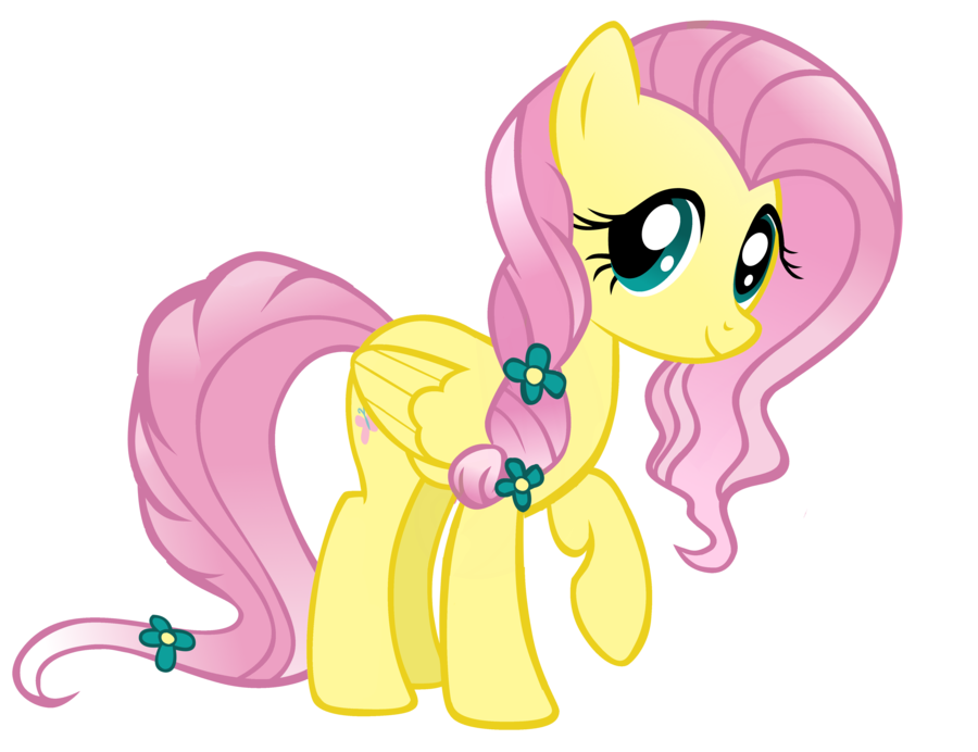 Fluttershy as a Crystal poni, pony
