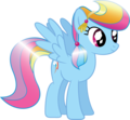 Rainbow Dash as a Crystal Pony