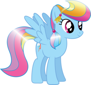 upinde wa mvua Dash as a Crystal gppony, pony