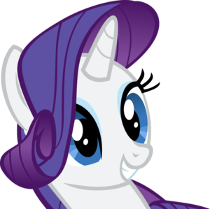 Rarity Smiling