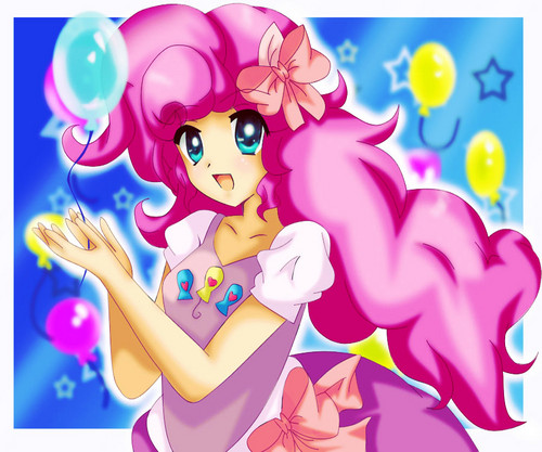 My Little Pony Friendship is Magic wallpaper probably with anime titled Pinkie Pie Anime Human