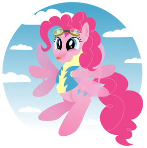 Pinkie Pie as a Wonderbolt