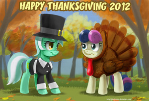 Happy Thanksgiving with Bon Bon and Lyra