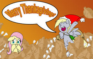 Happy Thanksgiving with Derpy and Fluttershy