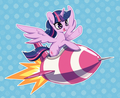 Twilight Riding a Rocket - my-little-pony-friendship-is-magic photo