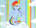 Rainbow Dash in the Sky - my-little-pony-friendship-is-magic photo