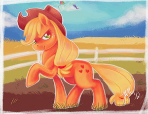 aguardiente de manzana, applejack doing Yard Work