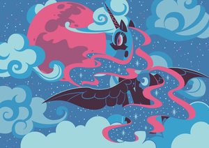 Nightmare Moon in the Sky