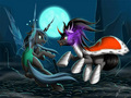 Queen Chrysalis and King Sombra