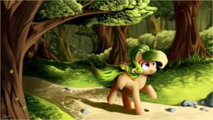 pony in the Woods