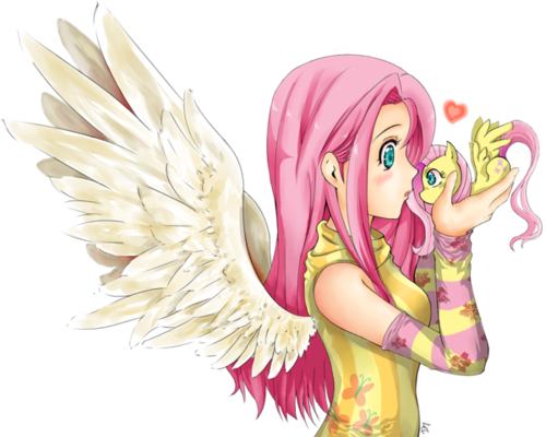 My Little Pony Friendship is Magic wallpaper titled Human Fluttershy