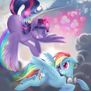 Twilight and Rainbowdash
