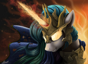Princess Celestia In Armor wallpaper