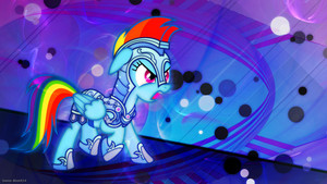 Rainbow Dash in Armor Wallpaper