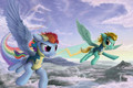 Rainbow Dash and Lightning Dust Wallpaper - my-little-pony-friendship-is-magic photo