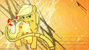 Applejack with a Rope Wallpaper