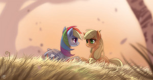 Rainbowdash and applejack