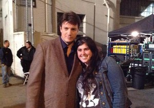 Nathan and a fan-BTS 6x12