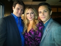 Nathan&Seamus-BTS - nathan-fillion-and-stana-katic photo