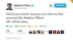 Nathan's twitter(November,2013)