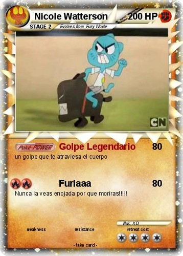 Nichole Watterson 바탕화면 called Pokemon Card Furiaaa