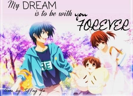 Okazaki Nagisa achtergrond containing anime titled Nagisa¸.•´¯`♡