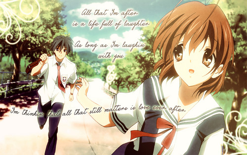 Okazaki Nagisa fondo de pantalla possibly containing anime titled ~Nagisa♥(Love)