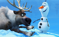 Olaf and Sven Wallpaper