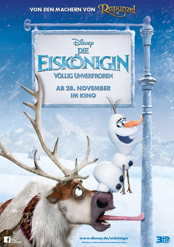 Frozen Poster Olaf Olaf and Sven German Poster