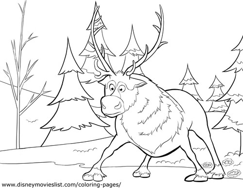Olaf and Sven wallpaper entitled Sven Coloring Page